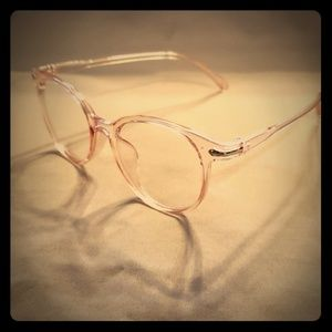 👓80s Style Pink Frame Glasses